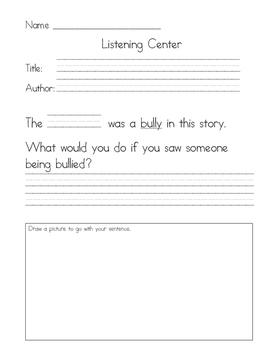 Listening Center Response - Skippyjon Jones Class Action by Judy Schachner