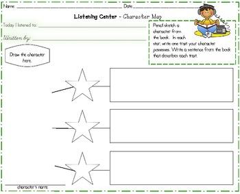 Listening Center Response Worksheets