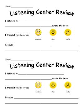 Listening Center Review Handout