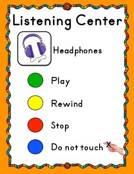 Listening Center Sign