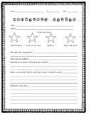 Listening Center Student Response Sheet