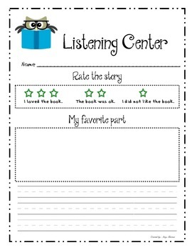 Listening Center - Student Responses to Literature and Non