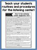 Listening Center Supplementary Materials for Kindergarten