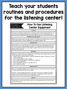 Listening Center Supplementary Materials for Second Grade