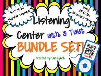 QR Code reveals story~Listening Center BUNDLE~60 Popular stories