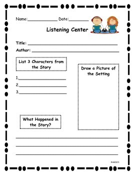 Listening Center Writing Activity
