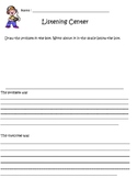 Listening Center Writing Activity for elementary students