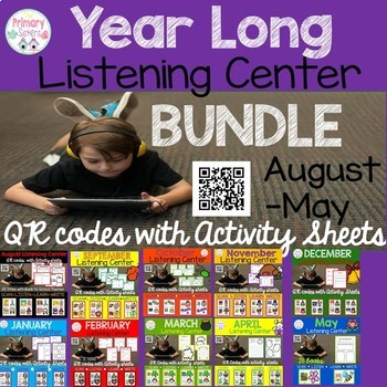 Listening Center Year Long Bundle with QR codes-Over 250 Stories