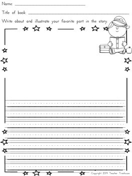 Listening Center and Reading Response Worksheets