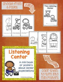 Listening Center mini book