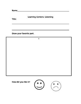 Listening Center worksheet