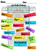 "Listening Challenge ""iPod Shuffle"" First Day activity"