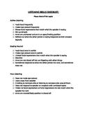 Listening Checklist Sheet