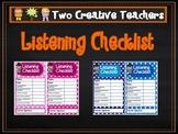 Listening Checklist Teacher Resource