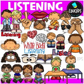 Listening Clip Art Bundle {Educlips Clipart}
