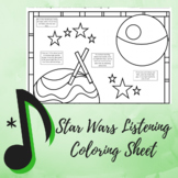 "Listening Coloring Map - Music Strikes Back ""Star Wars"" Edition"