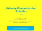 Listening Comprehension Activities 1-3