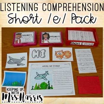 Listening Comprehension Activities - Short /e/ Words
