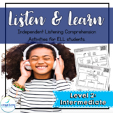 Listening Comprehension Activities for ELL Newcomers {Level 2}