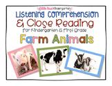 Close Reading & Listening Comprehension for Kindergarten &