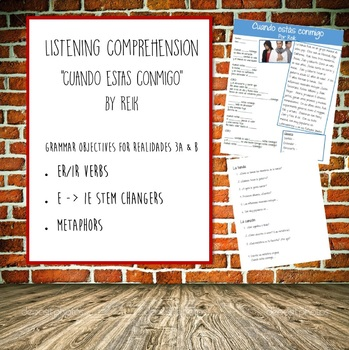 Listening Comprehension - Cuando Estas Conmigo
