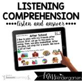 Listening Comprehension Kindergarten Boom Cards™ for Dista