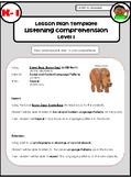 Listening Comprehension Lesson Plans