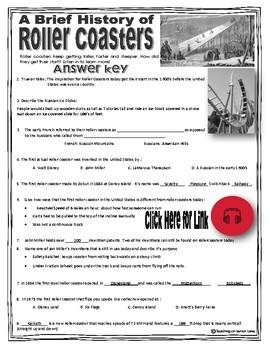 Listening Comprehension / Listening Skills / Listening Centers: Roller Coasters