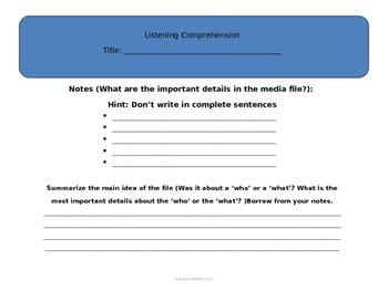 Test Prep Note Taking FSA (Listening Comprehension Notes)
