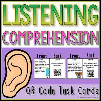 Listening Comprehension QR Code Task Cards
