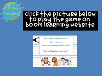 Listening Comprehension Self Checking Digital Boom Cards