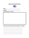 Listening Comprehension Sheets