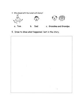 Listening Comprehension Stories  Practice  Test Prep SL.K.2   7 Stories