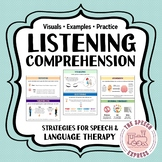 Listening Comprehension Strategies for Speech and Language