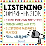 Listening Comprehension Unit - Upper Elementary to Middle School - Note Taking