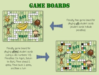 Listening Comprehension and Auditory Memory - Say What?! Monkey Game