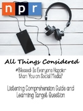 #SocialMedia: Listening Comprehension and Objective Summar