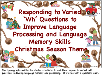 Listening Comprehension to Develop Language Processing and Memory Christmas!