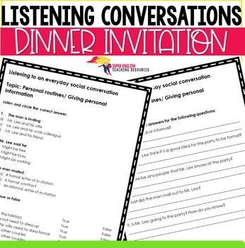 Listening Conversation Everyday Social Exchanges ESL