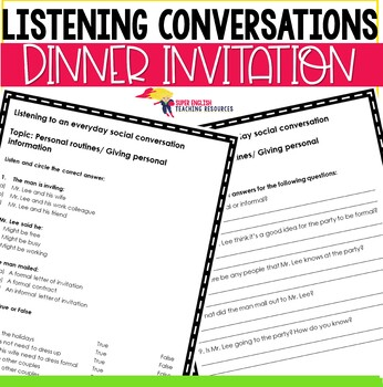 Listening Conversation Everyday Social Exchanges - Invitations ESL