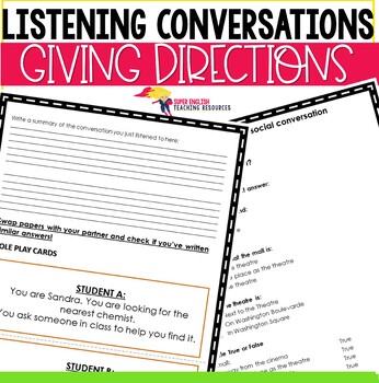 Listening Conversation Giving Directions ESL