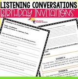 Listening Conversation Invitations ESL