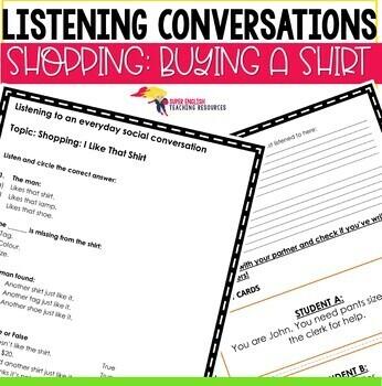 Listening Conversations ESL Newcomers High-school GROWING Bundle