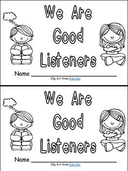 Listening Emergent Reader Kindergarten or 1st Grade- Rules Back to School