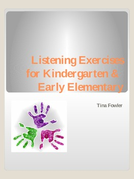 Listening Exercises for Kindergarten & Early Elementary