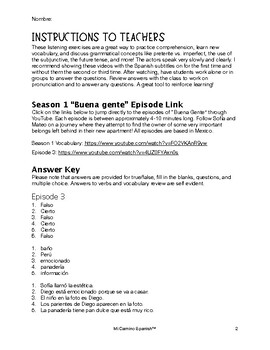 listening exercises for spanish students season 1 episode 3. Black Bedroom Furniture Sets. Home Design Ideas