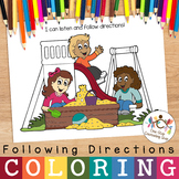 Listening & Following Directions Coloring Activities