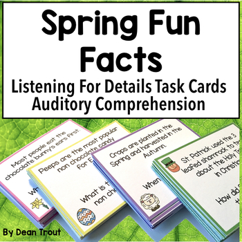 Listening Comprehension Spring Fun Facts for Speech Therapy