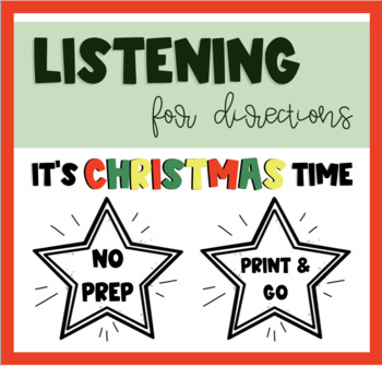 Listening For Directions - It's Christmas Time!