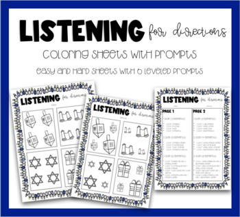 Listening For Directions - It's Hanukkah Time!